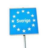 Border sign of sweden, europe Stock Photography