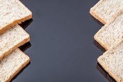 Border of slice whole wheat bread Royalty Free Stock Image