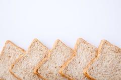 Border of slice whole wheat bread Stock Image