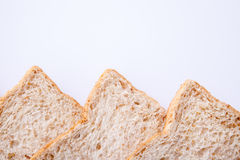 Border of slice whole wheat bread Royalty Free Stock Photos