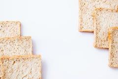 Border of slice whole wheat bread Stock Photography