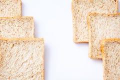 Border of slice whole wheat bread Stock Photos