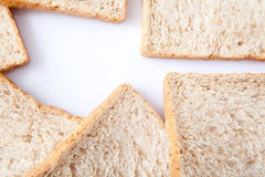 Border of slice whole wheat bread Royalty Free Stock Images