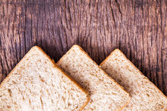 Border of slice whole wheat bread Royalty Free Stock Photography