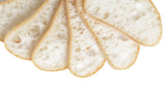 Border from slices of fresh italian ciabatta bread Royalty Free Stock Photography