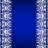 Border with snowflakes Royalty Free Stock Images
