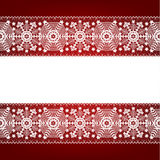 Border with snowflakes Stock Photography