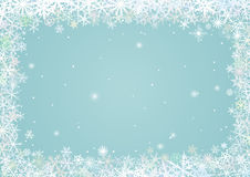 Border of snowflakes Stock Images