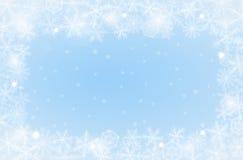 Border of snowflakes Stock Photo
