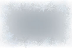 Border of snowflakes Royalty Free Stock Image