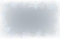 Border of snowflakes Royalty Free Stock Image