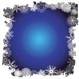 border snowflakevintern royaltyfri illustrationer