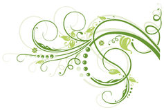 Border, spring. Colorful green tendril, spring time Royalty Free Stock Photo