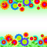 Border with spring flowers royalty free illustration