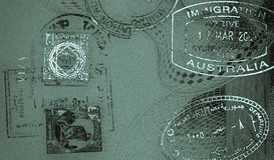 Border stamps retro background Royalty Free Stock Photo