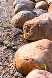 Border of stones. nature, peace. Royalty Free Stock Photo