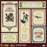 Border style labels on different topics Royalty Free Stock Images