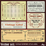 Border style labels on different topics Royalty Free Stock Photo