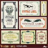 Border style labels on different topics Royalty Free Stock Image