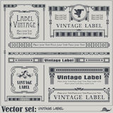 Border style labels on different topics Royalty Free Stock Photos