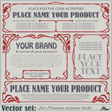 Border style labels on different topics Stock Image