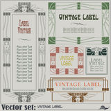 Border style labels on different topics Stock Images