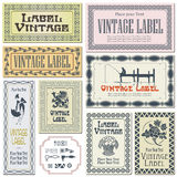 Border style labels on different versions (brushes included) Stock Images