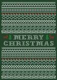 Border style Ugly Christmas T-shirt Design vector illustration