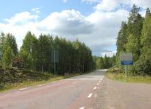 Border Between Sweden And Norway Stock Photos