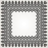 Border With Swirls. Floral Motif Frame Royalty Free Stock Image