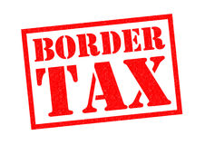 BORDER TAX. Red Rubber Stamp over a white background Stock Images