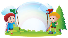 Border Design Boys Garden Stock Illustrations 5 Border Design