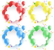 Border template with colorful balloons Royalty Free Stock Photography
