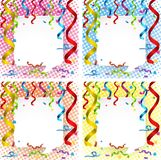 Border template with colorful ribbons Royalty Free Stock Photography