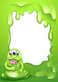 A border template with a fat green monster Stock Images