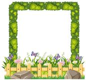 Border template with green grass. Illustration Stock Photos