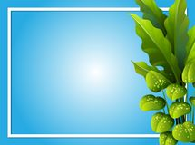 Border template with green leaves. Illustration Royalty Free Stock Photo