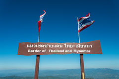 Border of Thailand and Myanmar Stock Photography