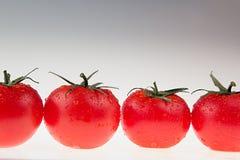 Border of tomato on a white background.  Macro. Texture. Gradient. Tomato pattern. Stock Photos