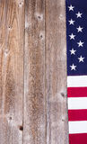 Border of USA flag on rustic wooden boards Royalty Free Stock Photography
