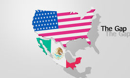 The border between USA and Mexico Royalty Free Stock Image