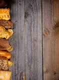 Border of Various Bread Stock Photo