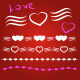 Border vector heart. Illustratio Border vector heart. Symbol valentines day stock illustration