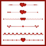 Border vector heart. Border vector heart Simbol valentines day. Border royalty free illustration