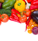 Border of vegetables Stock Image