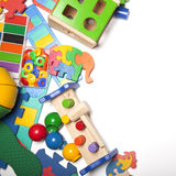 Border of very many toys Royalty Free Stock Image