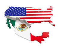 Border Wall Between America And Mexico Stock Photos