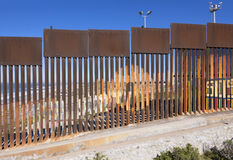 Border wall in Tijuana, Mexico Stock Photography