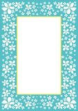 Border with white flowers Stock Images