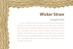 Border of wicker straw. royalty free stock image